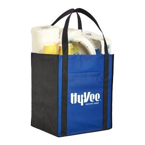 Large Non-Woven Grocery Tote Bag w/ Pocket